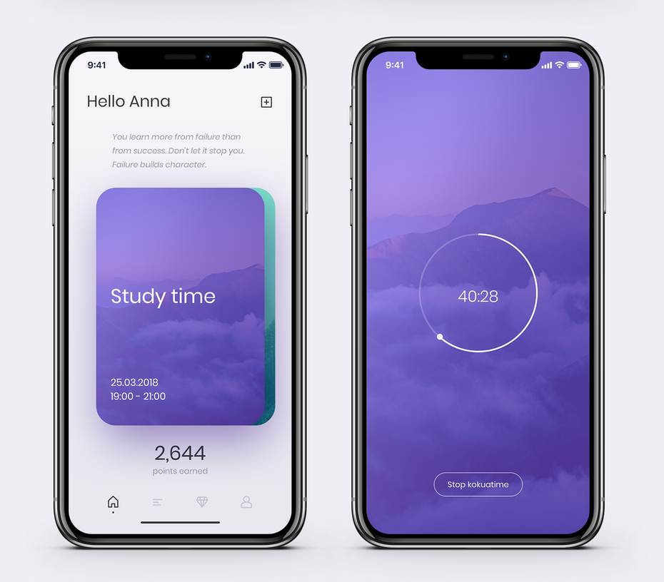 Sleep app design