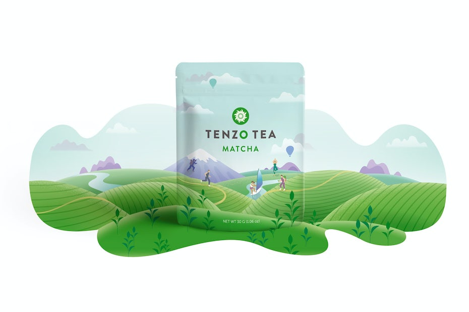 Tenzo Team Matcha nature packaging
