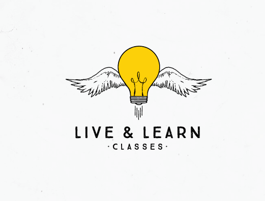 Live & Learn Classes Logo design