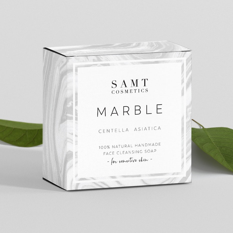 Packaging for a luxury soap brand