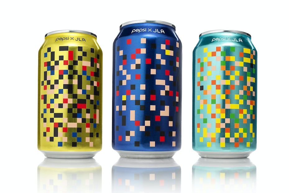Colorful pixel-inspired concept for Pepsi