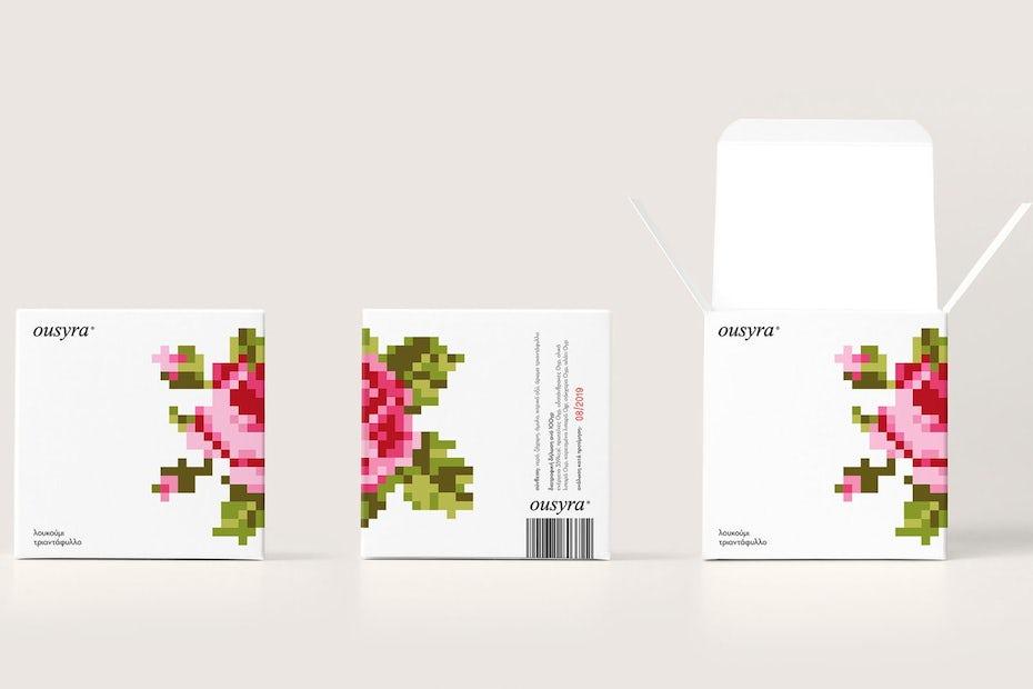 8 bit rose design