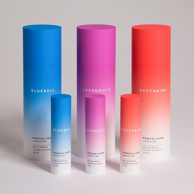 Transition gradient perfume design