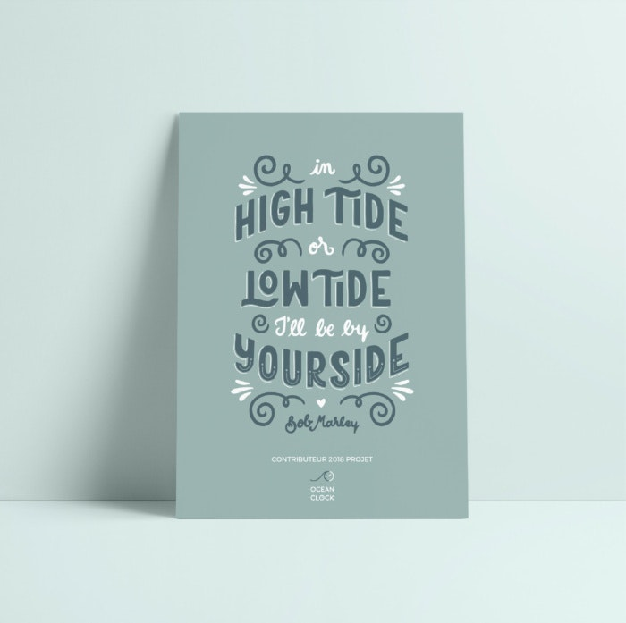 Quote hand lettering design