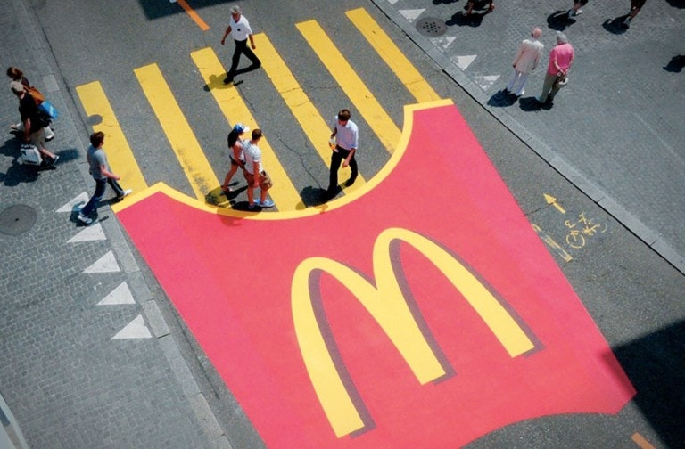 McDonald's guerrilla marketing mural advertisement