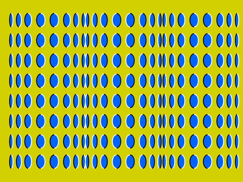Dots appear to roll due to apparent motion
