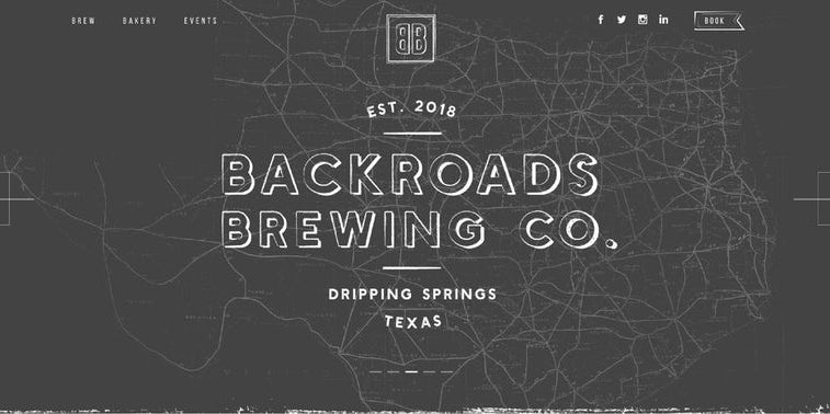 Backroads Brewing Co. web page