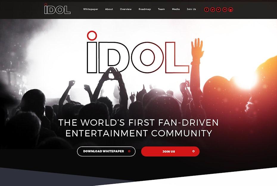 Idol web page