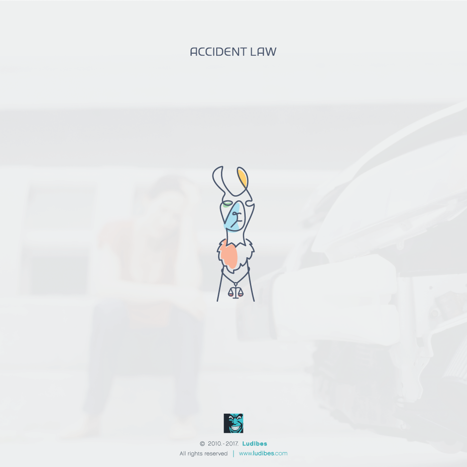 Accident Law llama logo