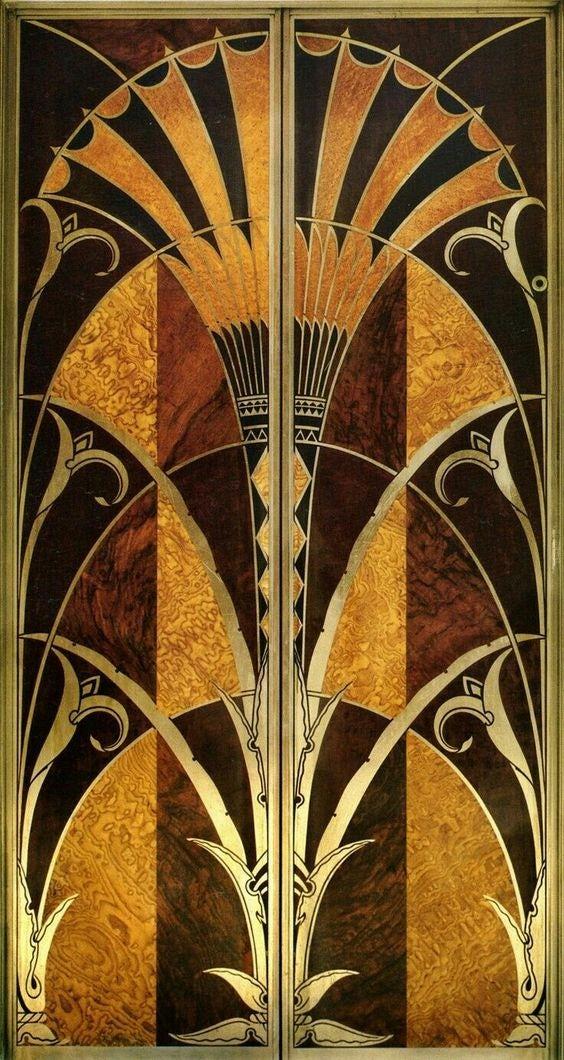 Chrysler building elevator doors