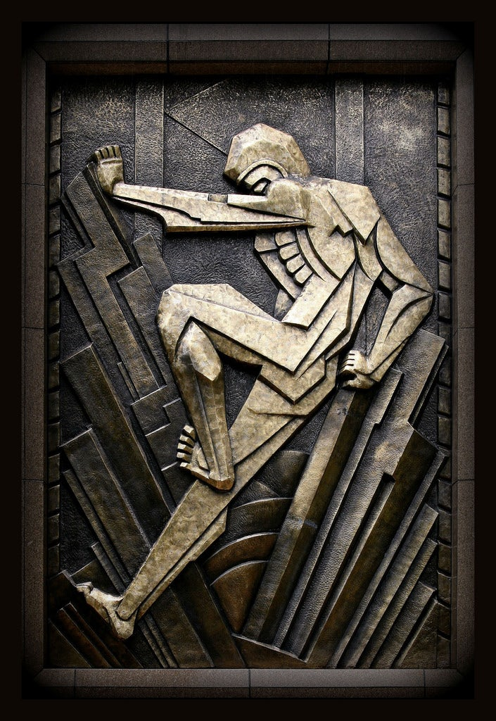 Art deco relief