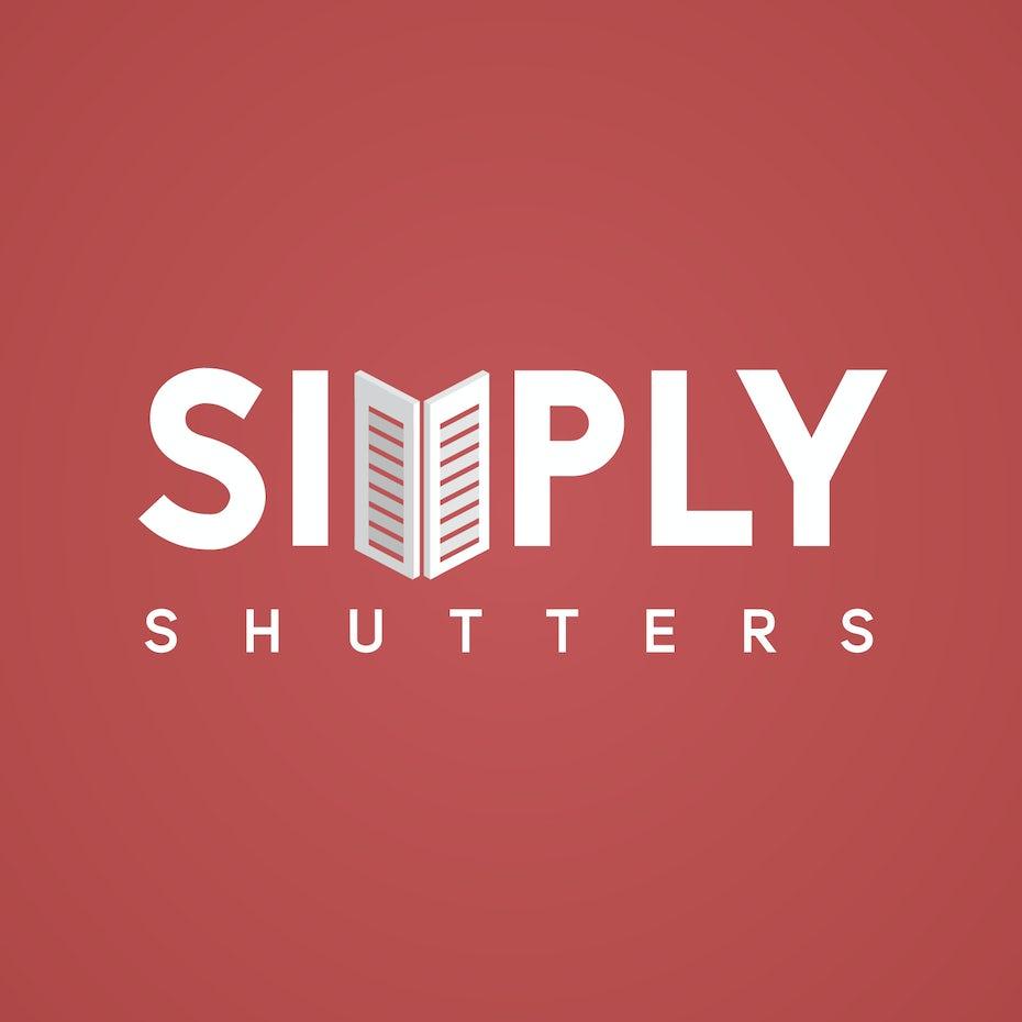 Isometric logo of a shutter