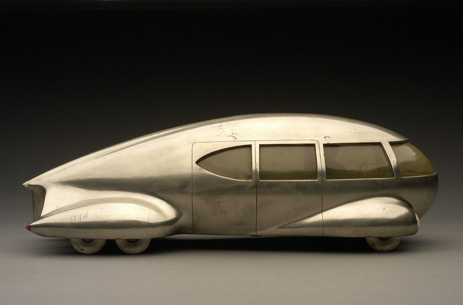 Futuristic car design by Norman Bel Geddes
