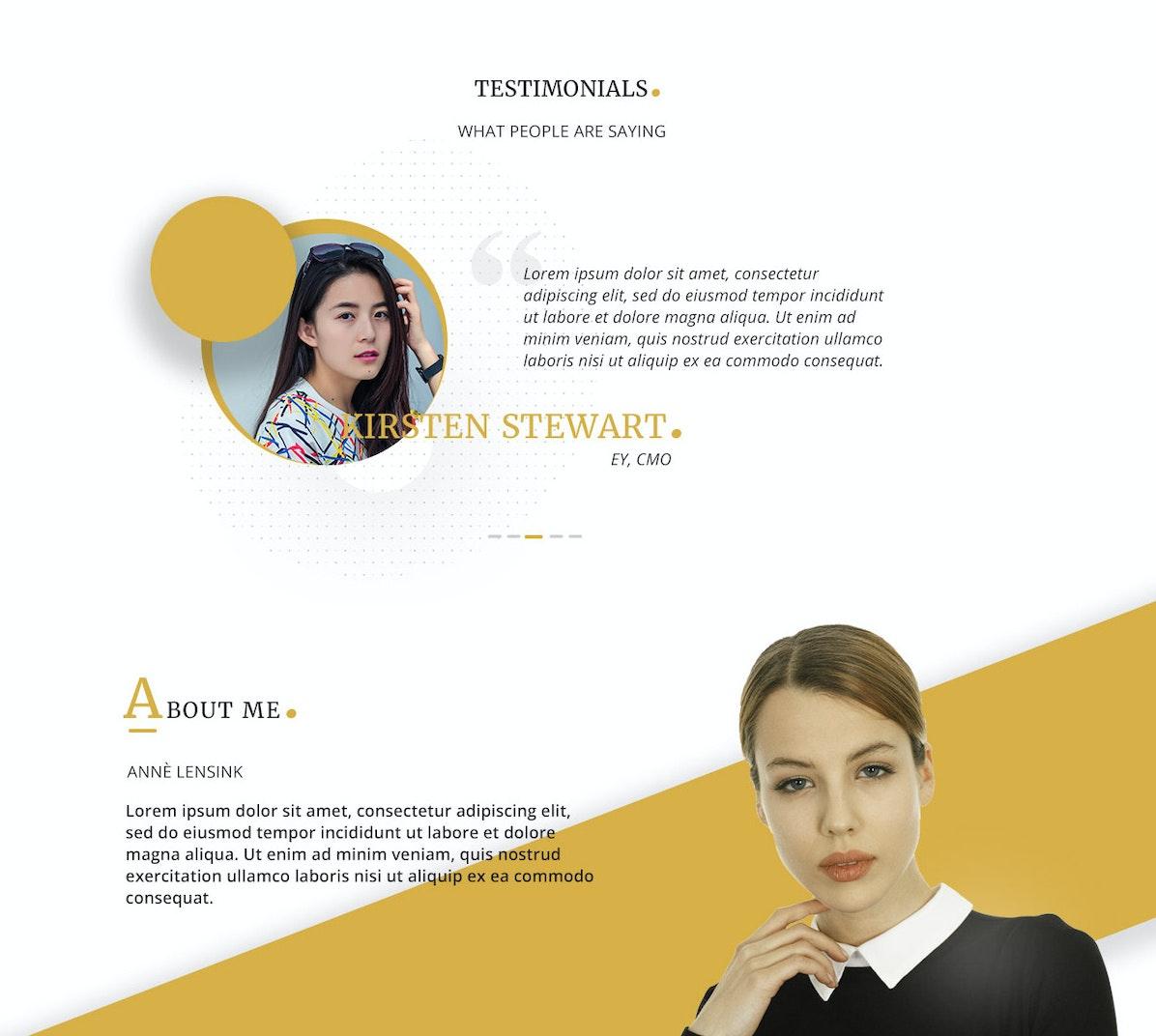 Homepage web design concept