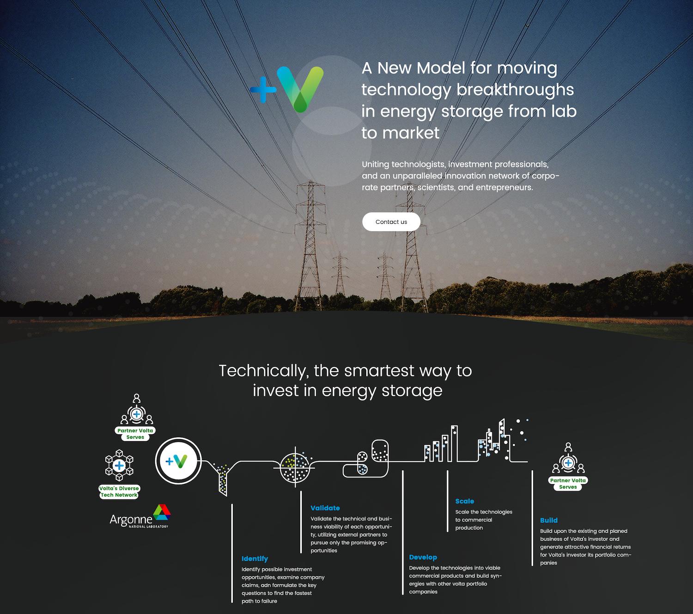 Volta web design