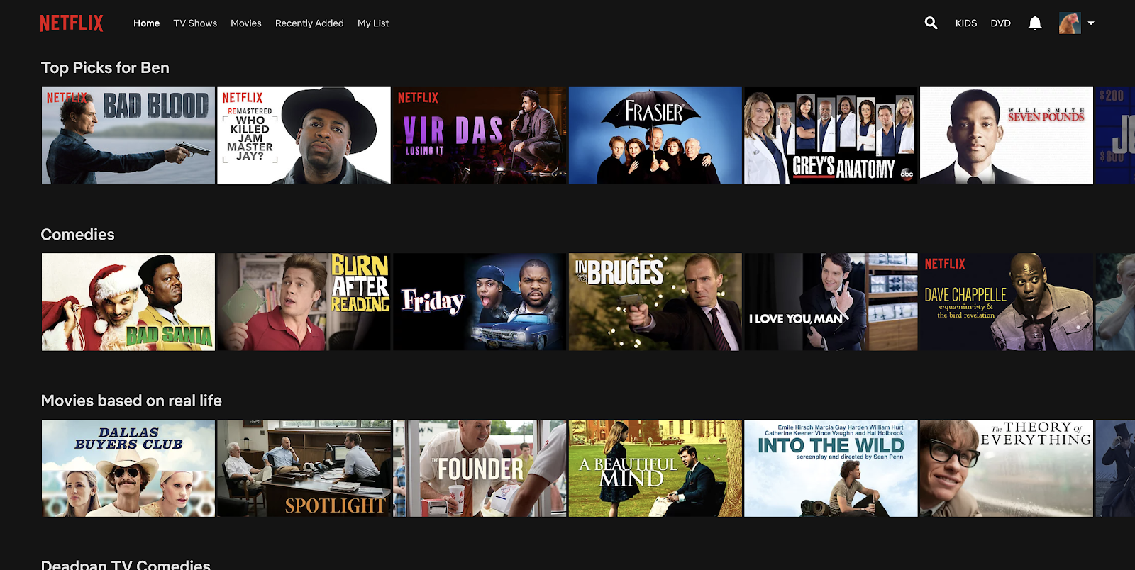 Netflix feed