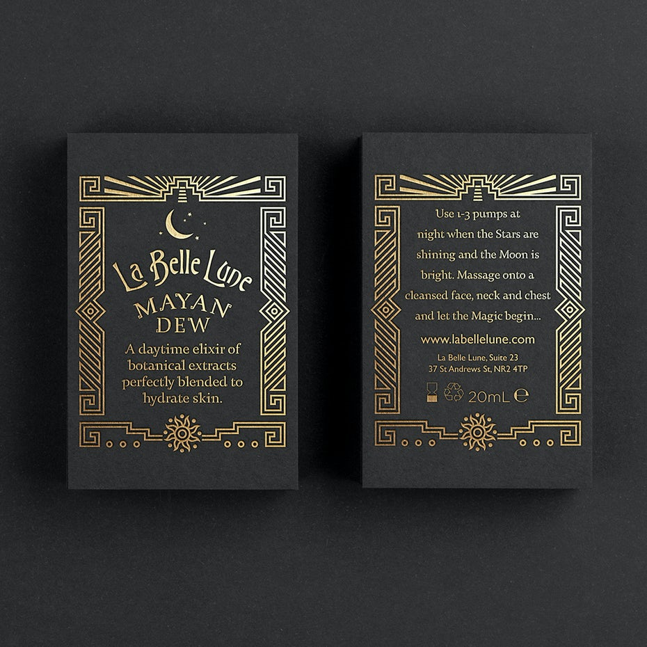Art deco packaging design