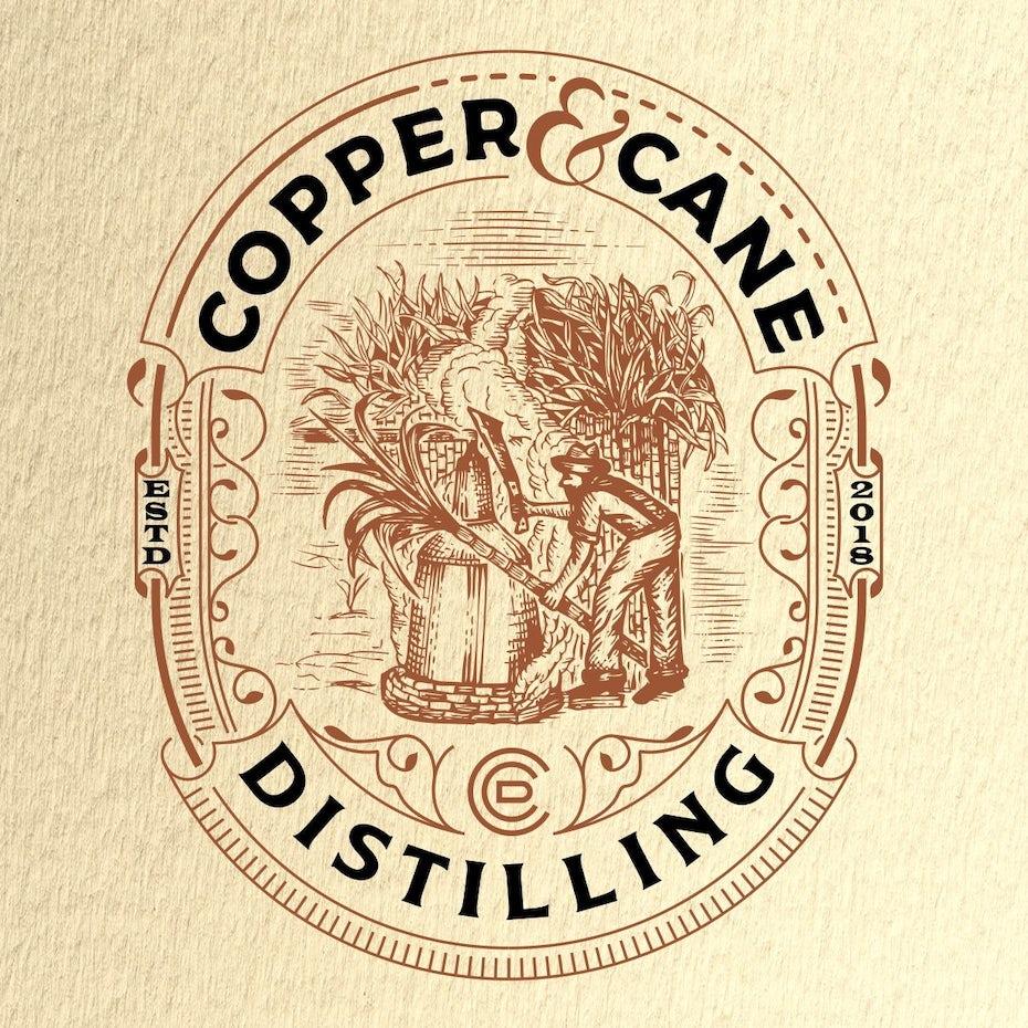 Copper & Cane Distilling logo