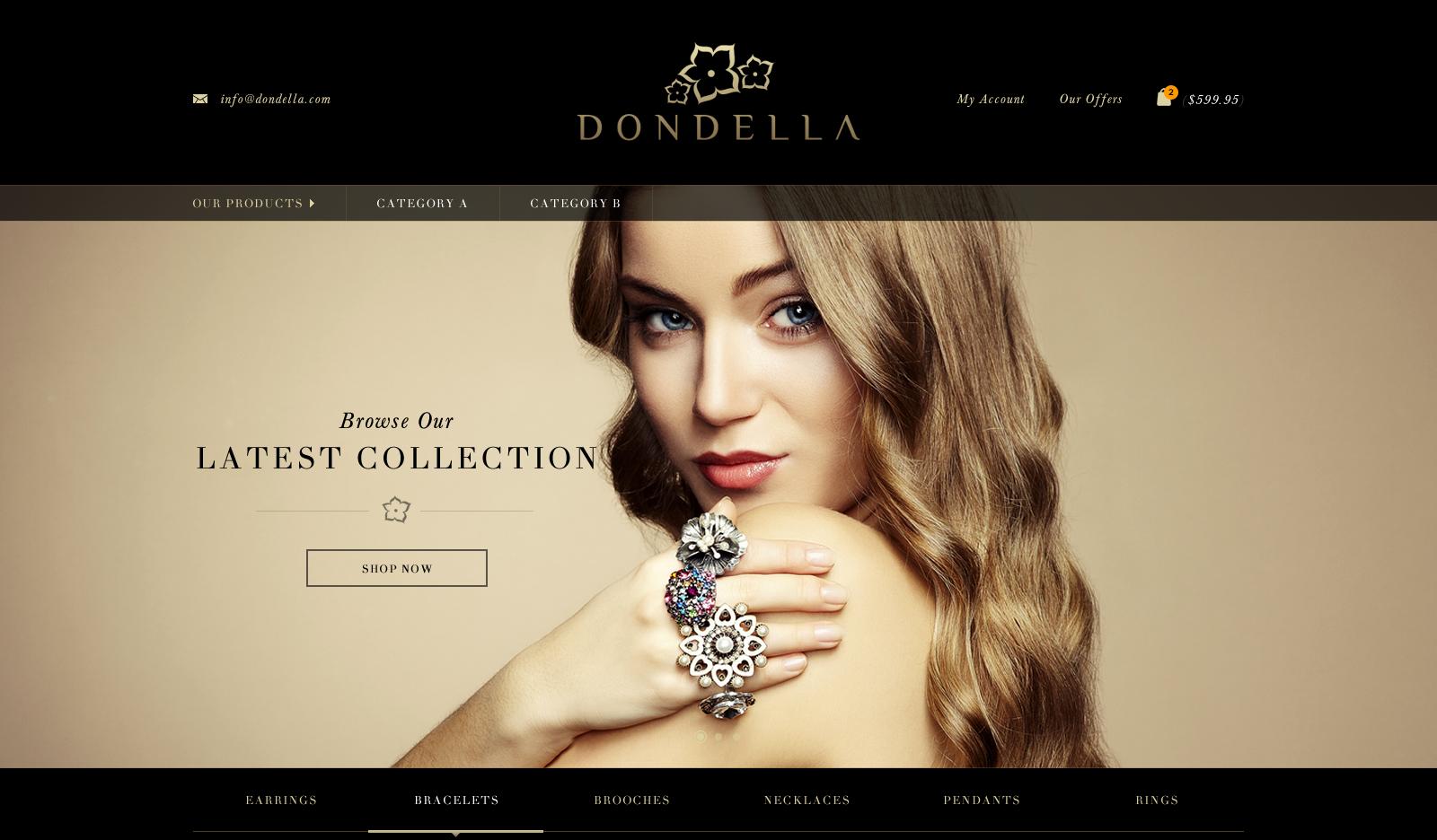 Dondella Web Page design