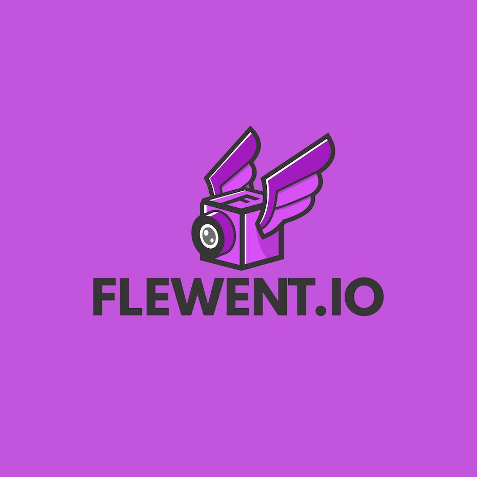 Flewent.io logo design