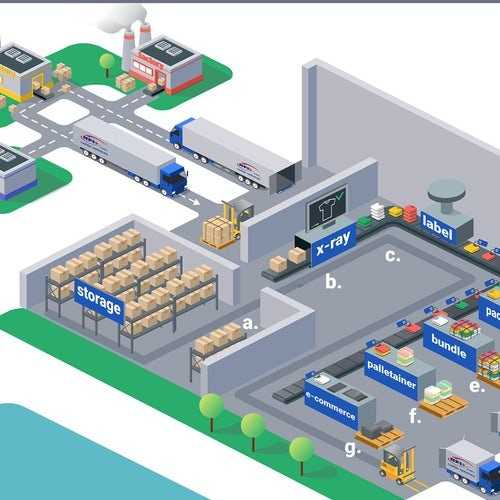 Isometric design of a warehouse