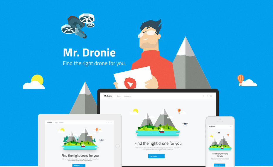Mr. Dronie web page design