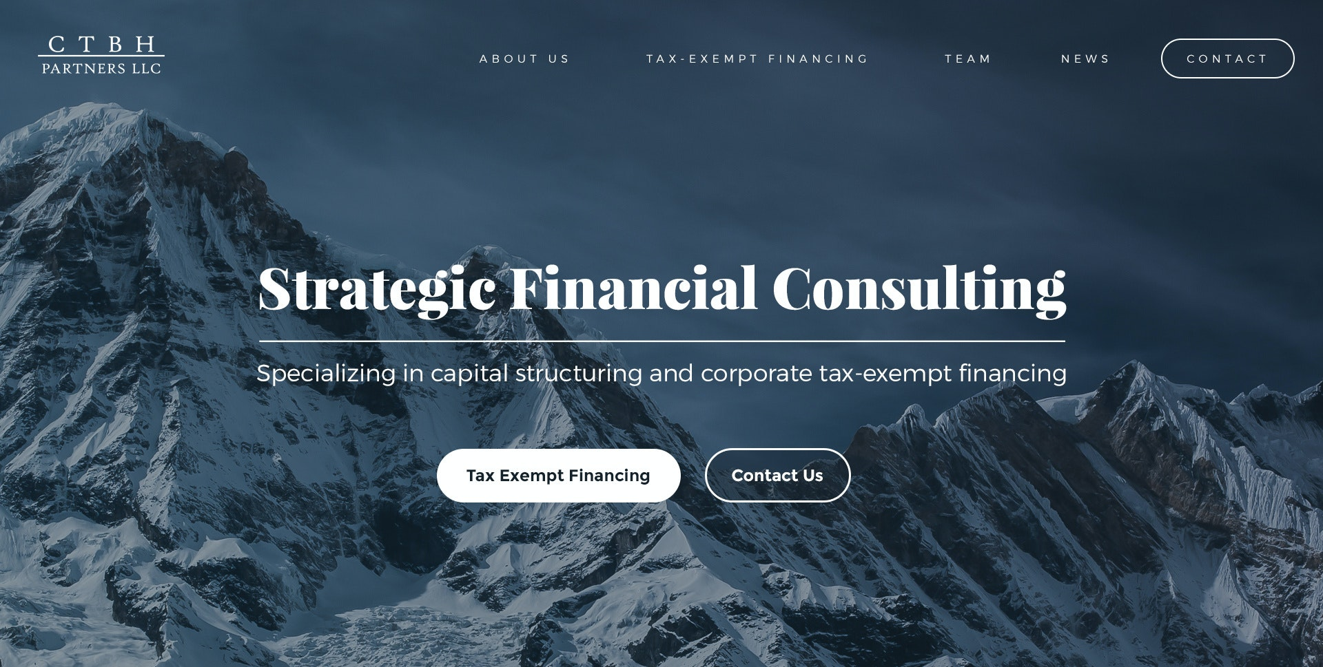 CTBH Partners, LLC web page design