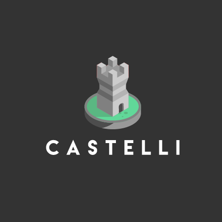 Isometric logo of a castle
