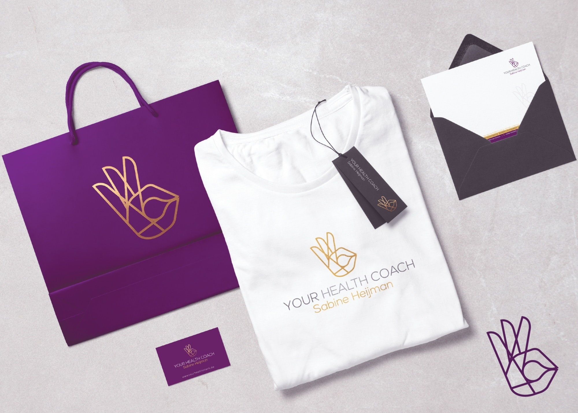 Your Health Coach Sabine Heijman branding package