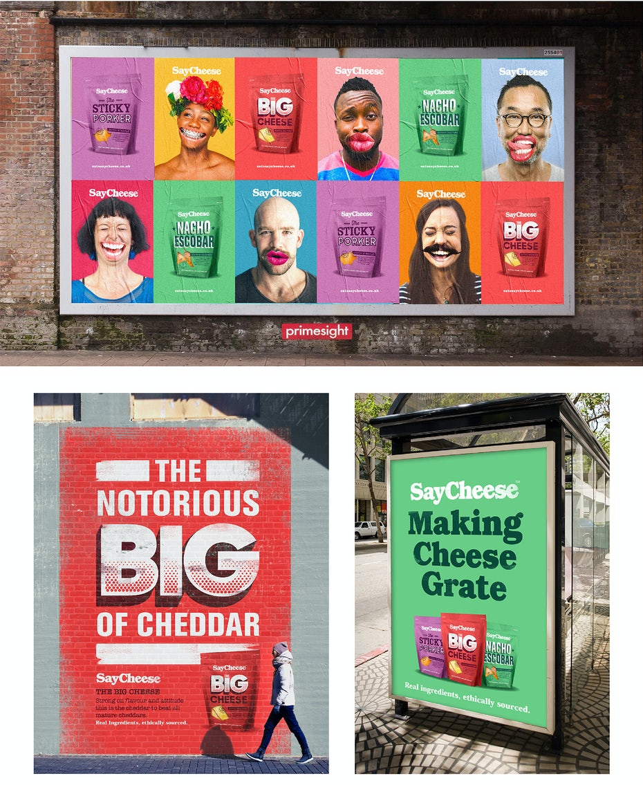 Robot Food branding campaign for Say Cheese project