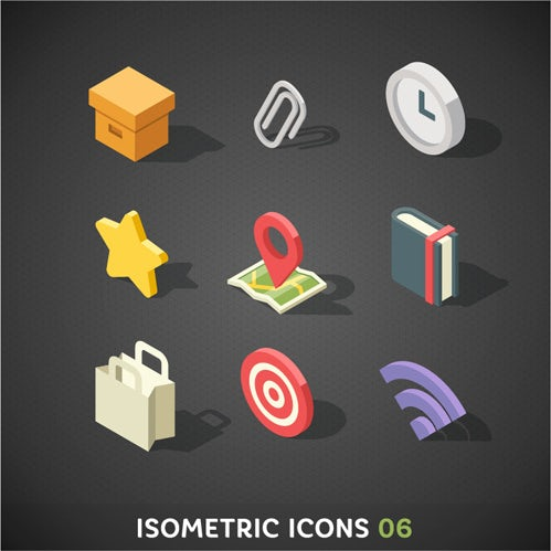 Easily readable isometric icons