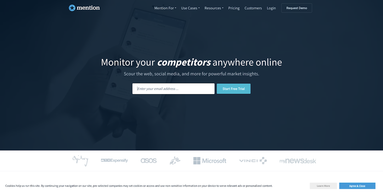 Mention pr tool website