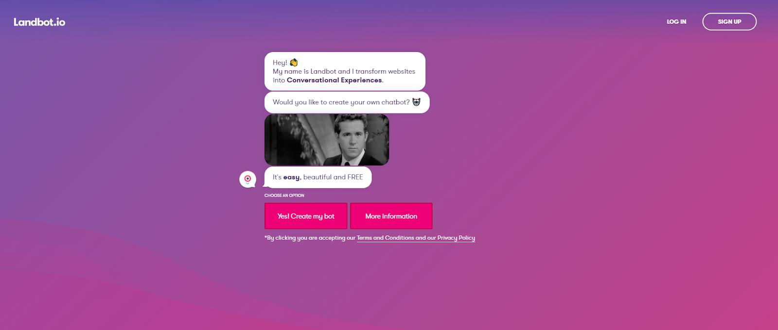 Landpot homepage