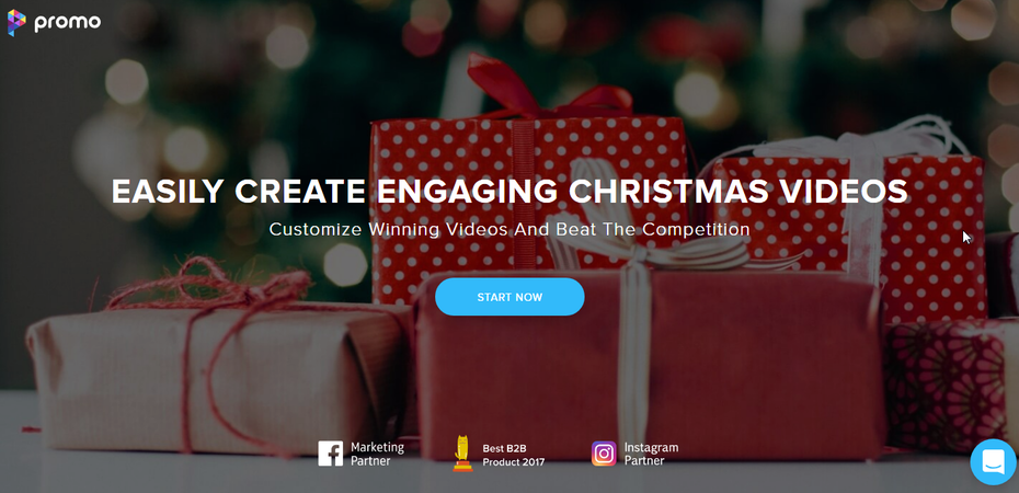Christmas video landing page