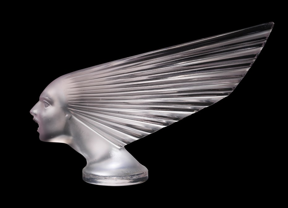 """Spirit of the Wind"" car mascot by René Lalique"
