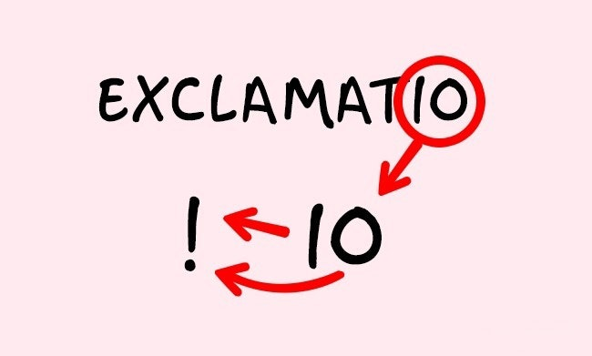 exclamation mark origins