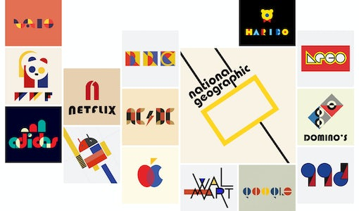 100 years of Bauhaus: what today's famous logos would look like in Bauhaus style