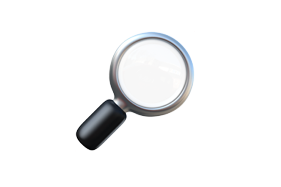 Magnifying glass emoji