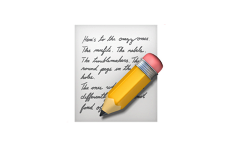 Pencil writing emoji