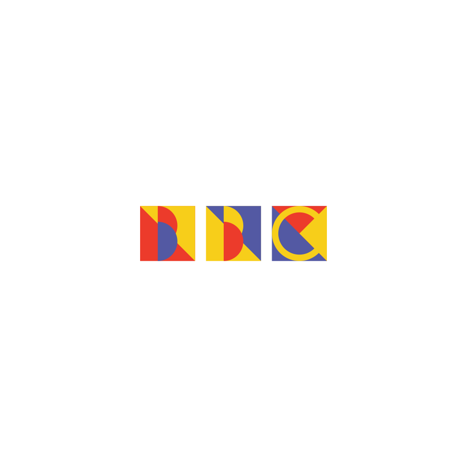 BBC logo in Bauhaus design style