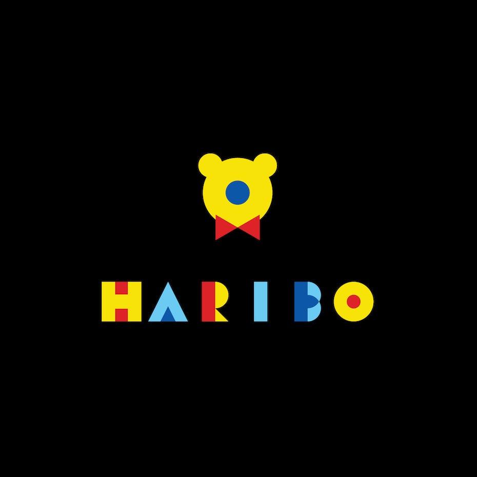 Haribo logo in Bauhaus design style