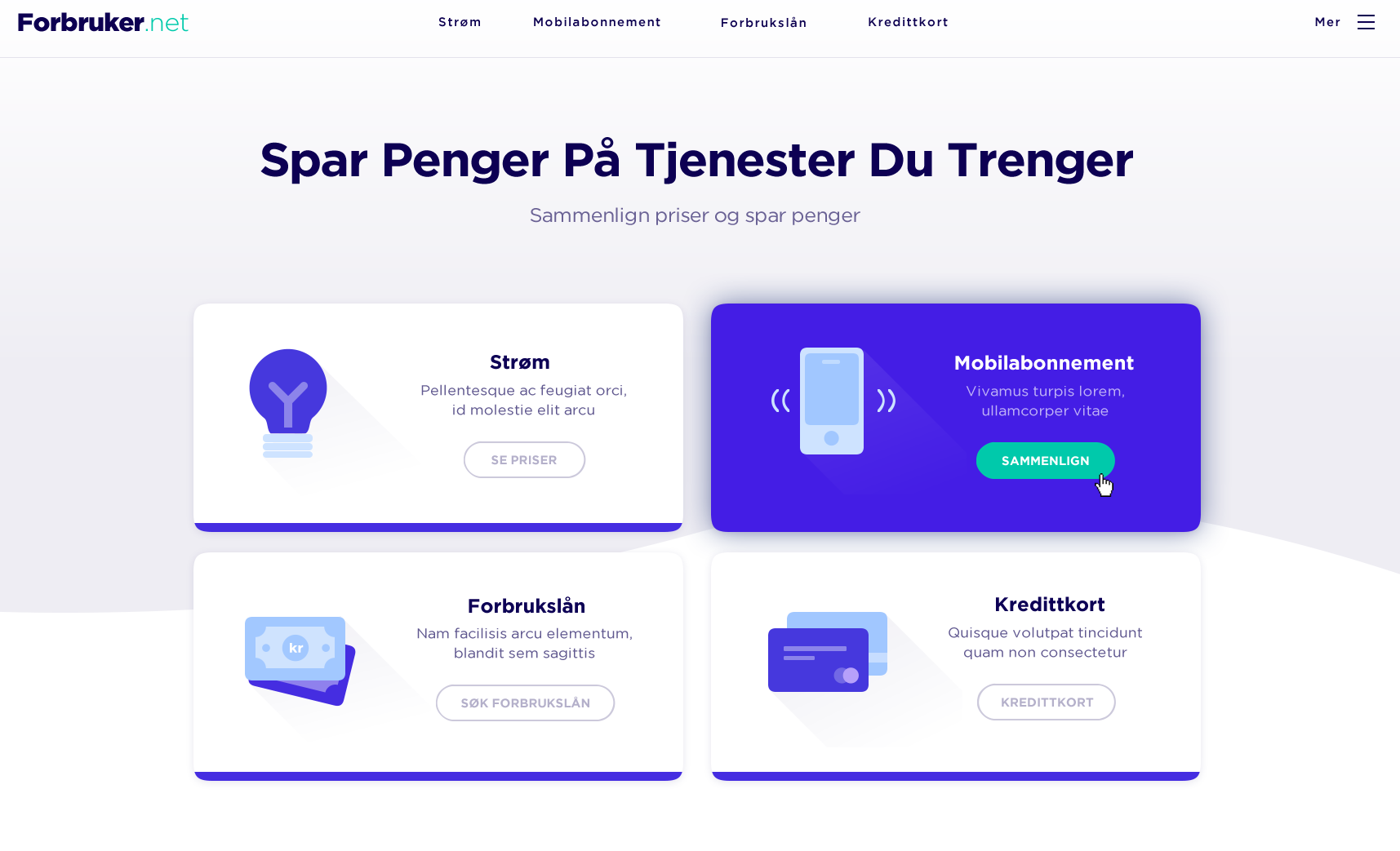 Web design in flat style