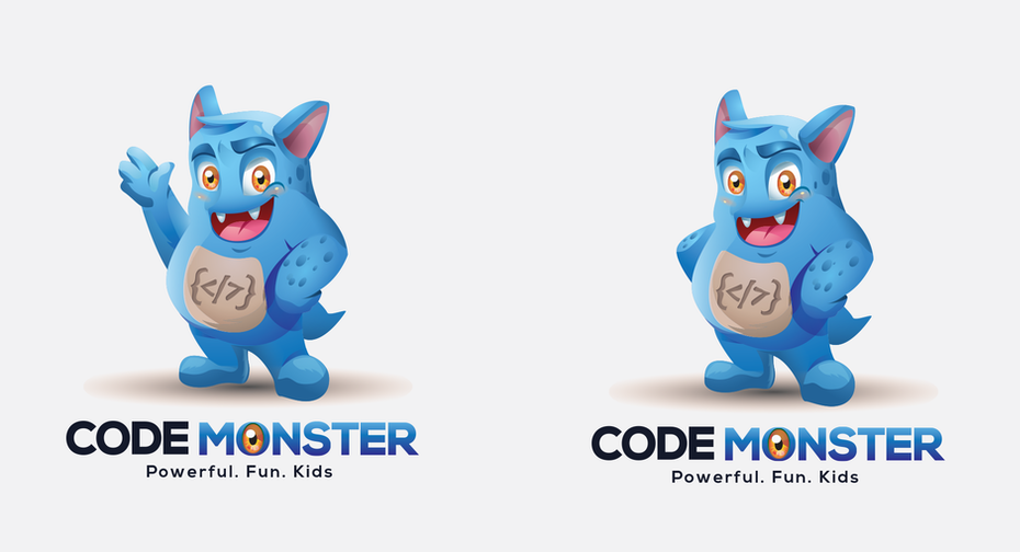 blue monster character