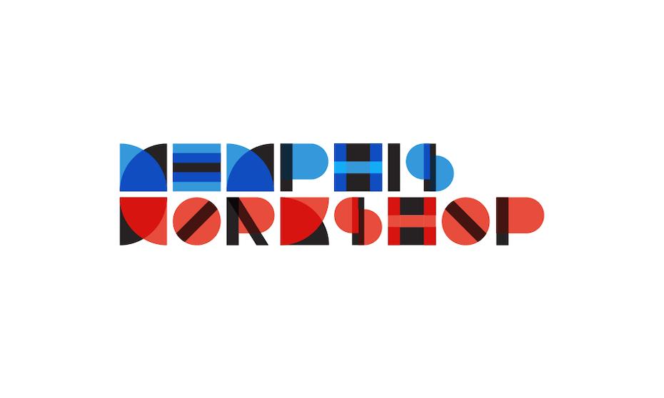 Memphis Workshop logo with Bauhaus design