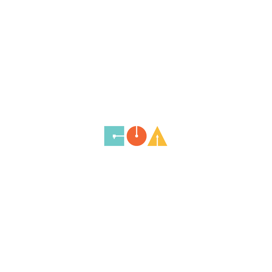 GOA logo with Bauhaus design