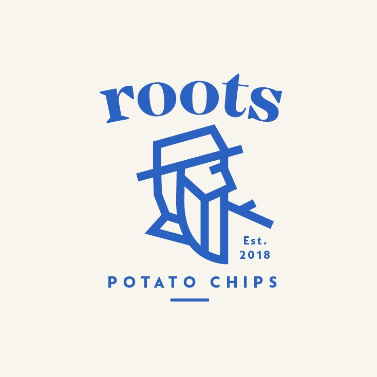 Roots Potato Chips old man logo