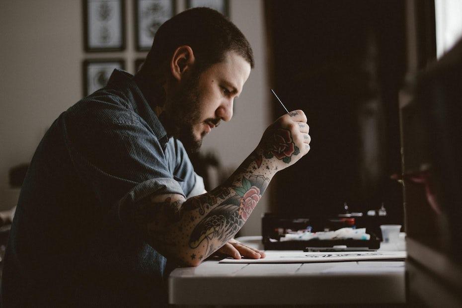 Freelancer working