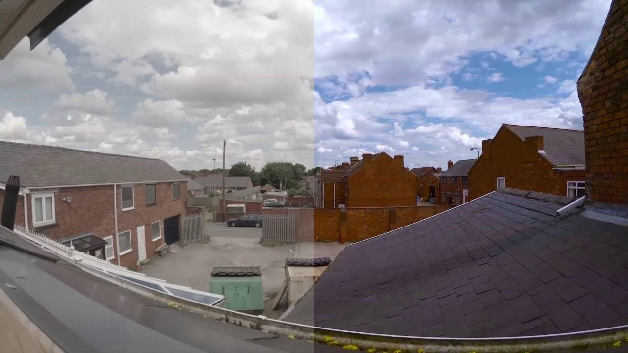 Raw vs color corrected video