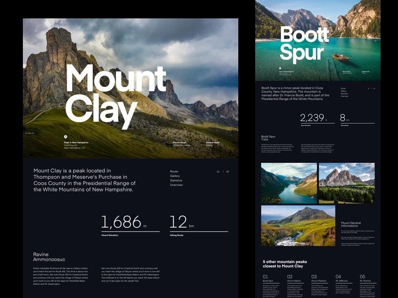 Mountain Hills landing page