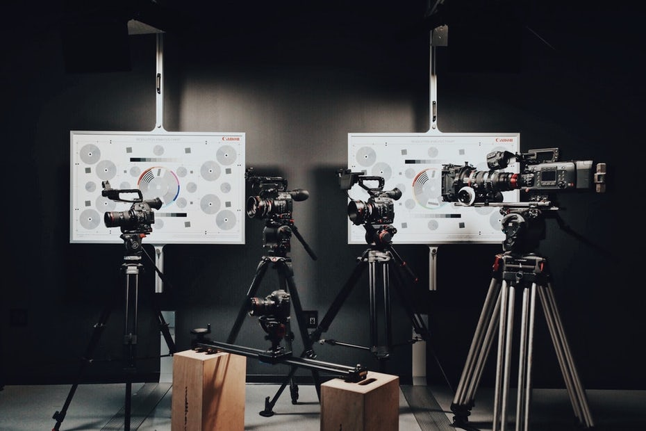 Five different video cameras